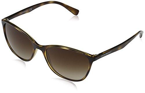 Emporio Armani Unisex 502613 Sonnenbrille, Mehrfarbig (Havana), Large (Herstellergröße: 56)