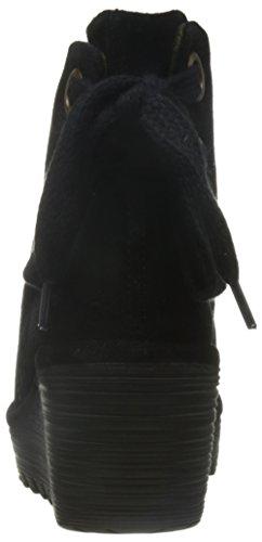FLY London Yama, Bottes Classiques femme Noir (Black 006)