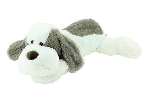 Sweety-Toys 5000 Riesen Plüschhund 80 cm weiss-grau