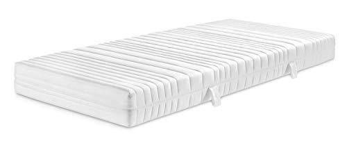 Traumnacht Basis 7-Zonen 2 in 1 Duo Komfortschaummatratze mit 3D Konturenschnitt für alle Schlaftypen, Härtegrad 2 und 3, 90 x 200 cm