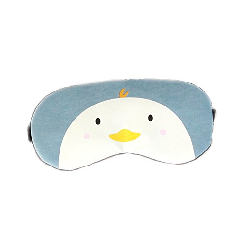 (Doitsa Schlafmaske Tier Muster Augenmaske Premium-Schlafmaske mit Kühlkissen- auch als Kühlmaske verwendbar für Erwachsene/Kind (Küken))