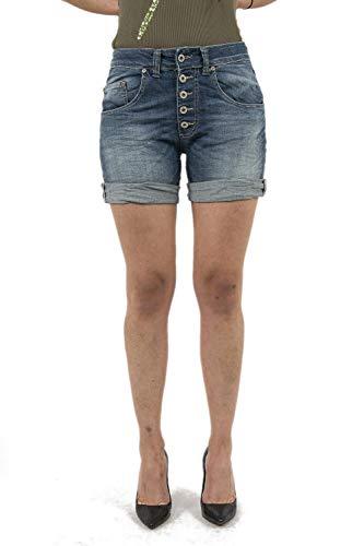 Please - p88 e02 shorts donna bermuda denim m blue denim scuro