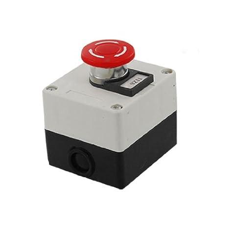 SODIAL(R) Red Mushroom Emergency Stop Push Button