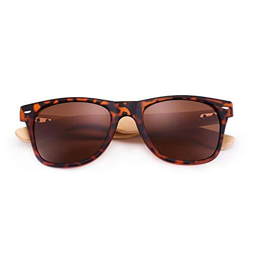 CCGKWW Premium Natural Frames Original Bambus Casual Uv400 Objektiv Männer Und Frauen Unisex Driving Square Sonnenbrille