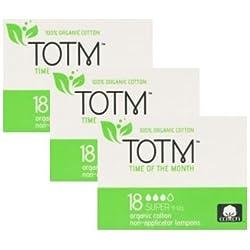 3 paquetes de 18 tampones orgánicos