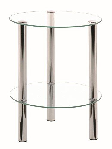 HAKU Möbel 90243 Beistelltisch 47 x 35 cm, chrom -
