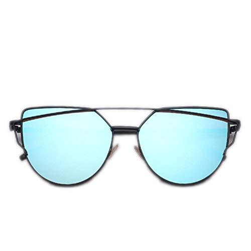 WERERT Sportbrille Sonnenbrillen Sunglasses Women Vintage Metal Reflective Glasses For Women Mirror Retro