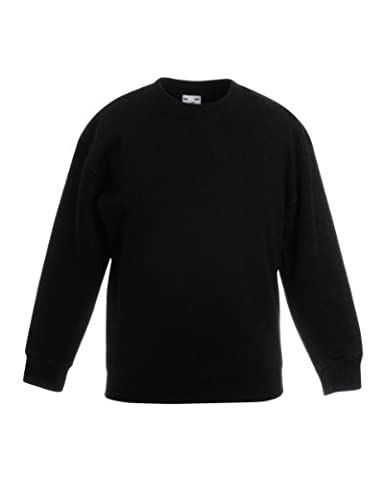 Fruite of the Loom Kinder Sweatshirt, vers. Farben 152,Schwarz