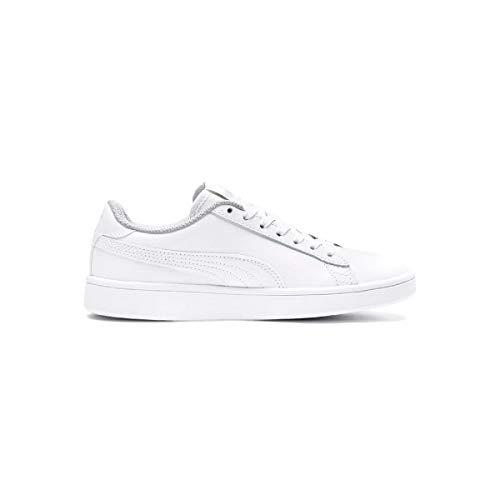 buy online 27cd7 91267 Puma Unisex-Kinder Smash V2 L Jr Sneaker, Weiß (Puma White-Puma