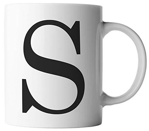 ghostee Tasse - Buchstabe S - Alphabet als Kaffeetasse ABC Buchstaben