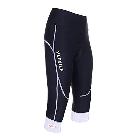 VEOBIKE Damen Radfahren Road Bike Gel gepolsterte zugeschnitten Shorts Pants, weiß