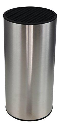 Ceppo Portacoltelli (senza coltelli) Cilindrico in Acciaio Inox Salvaspazio Coninx - Per Conservare i Coltelli Puliti e in Sicurezza - Inclusa GARANZIA di SOSTITUZIONE per CINQUE ANNI