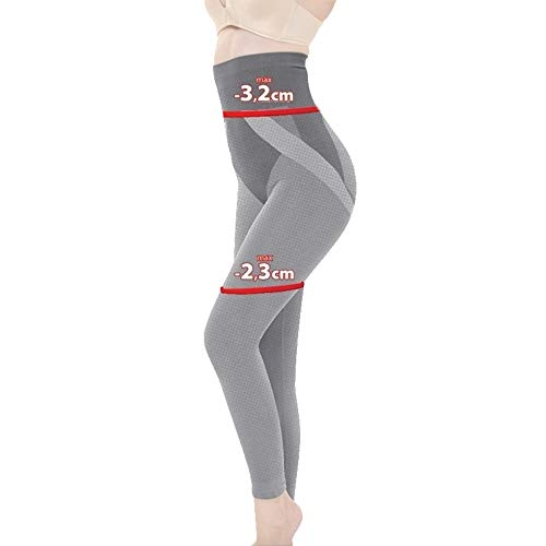 ProSlim Figurformende Anti-Cellulite Slimming Lange Hose (Leggings) T-active mit Massageeffekt mit turmalin kügelchen hohe Taille