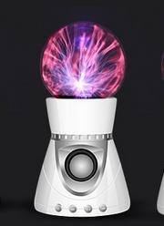TZQ Electrostatic joueur de boule de cristal haut-parleur Bluetooth portable avec collecte veilleuses , white +