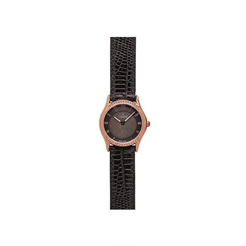 CHARMEX CANNES 6327 LADIES BLACK CALFSKIN 30MM STAINLESS STEEL CASE WATCH