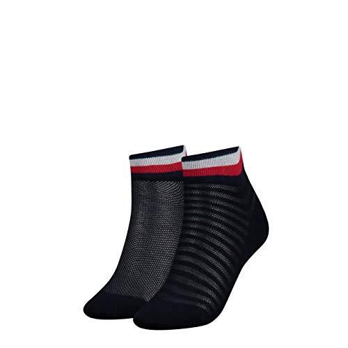 Tommy Hilfiger Damen Socken TH Women Resort Short 2P, 2er Pack, Mehrfarbig (Midnight Blue 563), 35/38 (Herstellergröße:035)