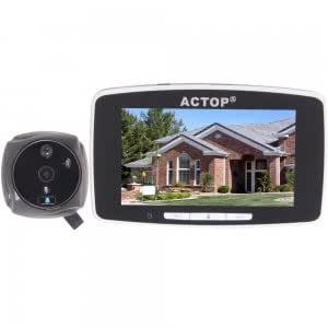 """5"""" HD LCD Touch Screen Door Viewer Peephole Camera Doorbell with TF Card Slot Black PHV-3506"""