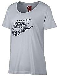 Nike W NSW Scoop Rock Grdn Shirt, Damen