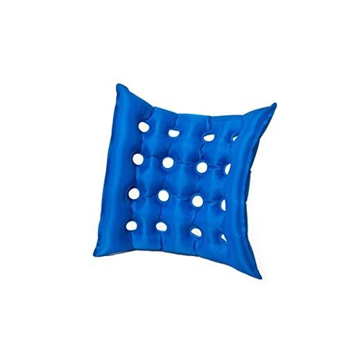 Tianya Luftkissen, Luft-aufblasbare Sitzkissen-Büro-Auto-Rollstuhl-quadratische Kissen mit Pumpe Blau