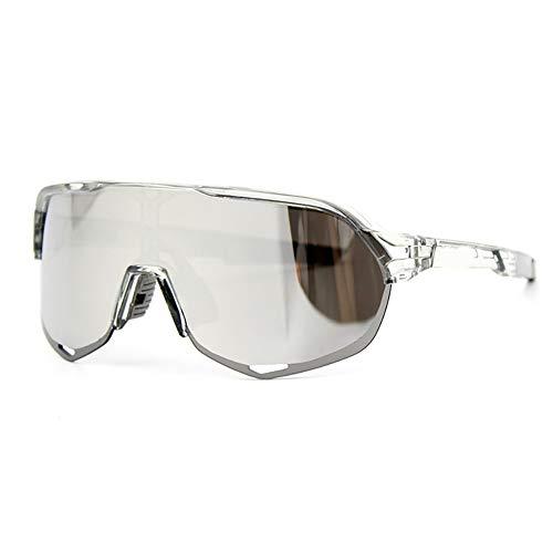 HAOYU Sport Radfahren Sonnenbrillen Bergsteigen Sonnenbrillen UV-Schutz Spiegel Outdoor Sports Bike Brille für Erwachsene Männer, Frauen,F