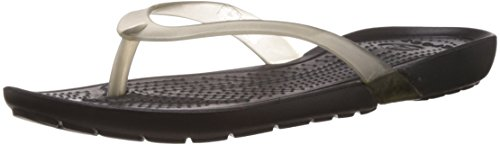 Crocs Women's Really Sexi Black Rubber Flip-Flops and House Slippers - W4  available at amazon for Rs.1197