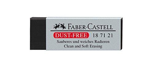 Faber-Castell 187121 - Radiergummi Dust-Free, Kunststoff, schwarz