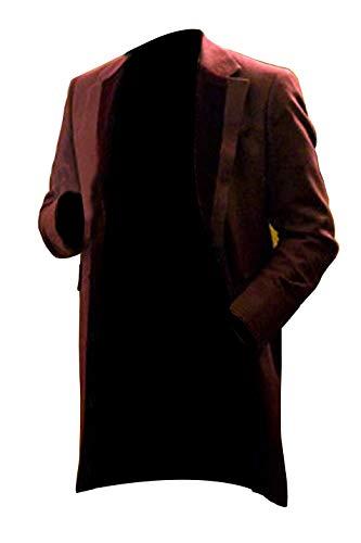Django Kostüm - e Genius Django Unchained Monsieur Leonardo Dicaprio Calvin J Candie Cosplay Baumwollmantel Gr. XX-Large, Maroon Coat