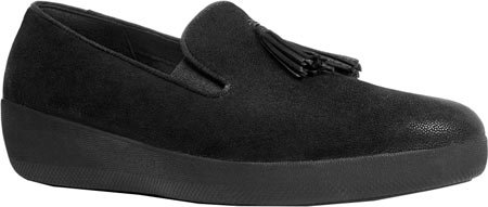FitFlop Tassel Superskate Tm, Scarpe Low-Top Donna Barlume Nero