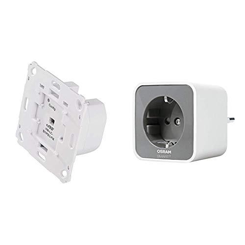 HomeMatic Funk-Rollladenaktor 1-fach für Markenschalter, Unterputzmontage & Osram Smart+ Plug ZigBee schaltbare Steckdose (fernbedienbar,  Direkt kompatibel mit Echo Plus)