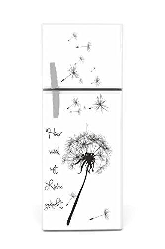Kühlschrank Aufkleber Pusteblume schwarz