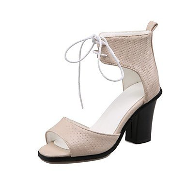 LvYuan Damen-Sandalen-Kleid Lässig-PU-Blockabsatz-Andere Pink