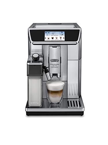 DeLonghi ECAM 650.75.MS Independiente Totalmente automática Plata - Cafetera (Independiente, Granos de café, De café molido, Molinillo integrado, Plata)