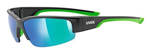 Uvex Unisex Erwachsene Sportstyle 215 Sportsonnenbrille, Black Mat green, One Size