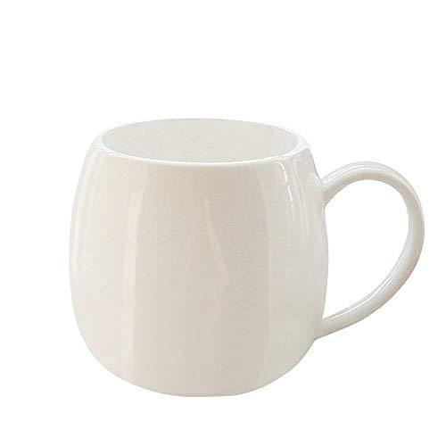 ufengke-ts Tasse À Café Créative en Porcelaine,Tasse À Thé en Céramique Blanche,Bone China Cadeau pour Maison, Bureau 480ml