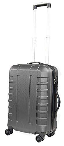 Pure - Hartschalen-Koffer Hugo | Kleiner Trolley mit 4 Rollen und TSA-Schloss in Größe S | Reisekoffer in Handgepäck-Größe | 42 Liter | Grau