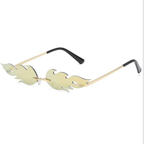 JING Die Männer und Frauen ohne Bild - Flamme Sonnenbrille Street in Europa und den USA S9026 Sonnenbrille schmalen Brille