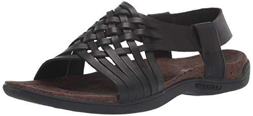 Merrell District Mahana Backstrap, Sandali con Cinturino alla Caviglia Donna, Nero Black, 38 EU
