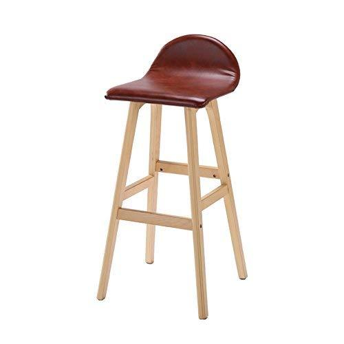 ch-AIR Chaise de Salle à Manger/siège de Bar,Chair Bois Massif Creative Front Desk/Bar Chaise Haute Room Salon/Réception / Salon de beauté/Barbier Chaire/Tabouret,CC