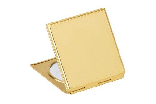 Miroir de poche - couleur doré