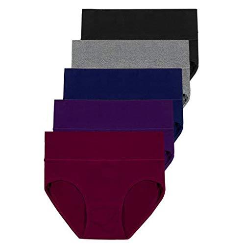 ➤Refill➤Panties & Hipsters für Damen,Damen Unterhosen Baumwolle Slips Damen Hoher Taille Atmungsaktive Taillenslip Wochenbett Unterwäsche Ultra Weich Größe