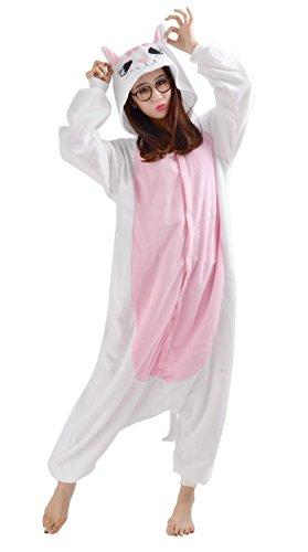 Tier Pyjamas Kostüm Jumpsuit Fasching Onesie Damen Herren Karneval Cosplay Nachtwäsche Katze