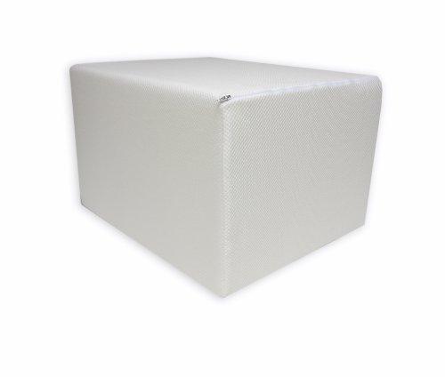 1. Bandscheibenwürfel mit Weißen Bezug, Stufenlagerung, Stufenlagerungswürfel, Stufenbett, Reha, Orthopädischer, Positurkissen, Lagerungskissen, Stufenlagerung, 1 St. 55 cm x 45 cm x 35cm