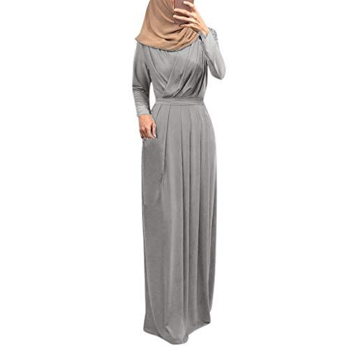 Muslimische Kleider Langes Maxikleid Muslim Robe Kleider Islamische Kleidung Abaya Dubai Kostüm Elegante Muslimischen Kaftan Kleid Frauen Muslims Kleidung (Niedliche Halloween Outfits Für Frauen)