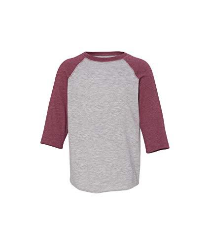 Toddler Baseball Fine Jersey T-Shirt VN HTHR/ VN BURG 4T -