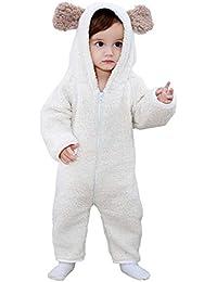 ea9137d0c0 YISHU Kinder Baby Tier Kostüme Flauschig Tieroutfit Pyjama Bär Cosplay  Jumpsuit Schlafanzug Mädchen Jungen Winter Nachtwäsche