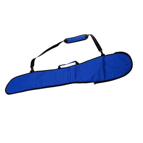 Toygogo Sup Acolchado Kayak Boat Canoe Paddle Storage Bag Funda De Bolsa Split Kayak Paddle Bag con Asa De Transporte Y Correa para El Hombro - Azul
