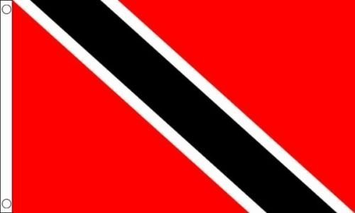 Trinidad and Tobago 5ft x 3ft (150cm x 90cm) 100% Poliestere Bandiera 2 occhielli + 59mm Spilla