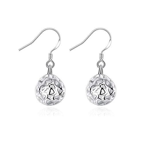 Silber Runde Handtasche (aiuin 1Paar Ohrringe Mode Mädchen Frauen Anhänger Rund Silber Ohrringe hohl Ohrringe mit einer Handtasche schöne Taste (Schmuck))