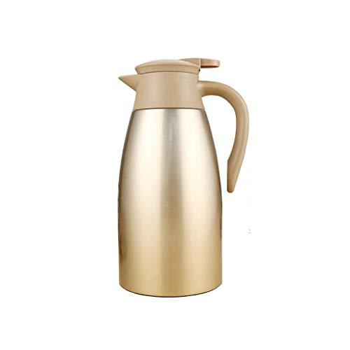 Pot d'isolation de l'acier inoxydable 304, cruche multifonctionnelle de jus de pot de café de bouilloire de restaurant de pot de vide (Couleur : Or)