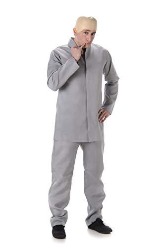 Karnival Costumes-60's Grey Suit Disfraz, Color gris, Extra Large (82026)